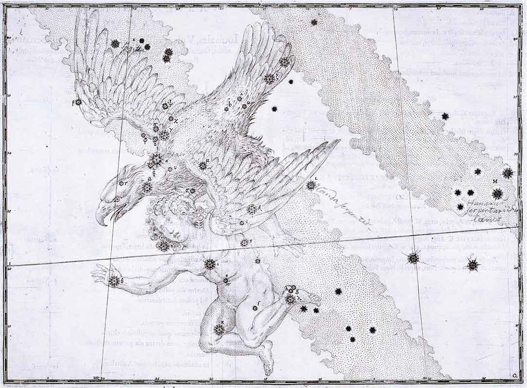 Aquila (constellation), Bayer-Uranometria-1603