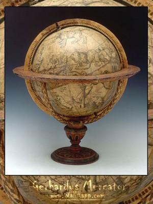 Celestial globe, Gerardus Mercator